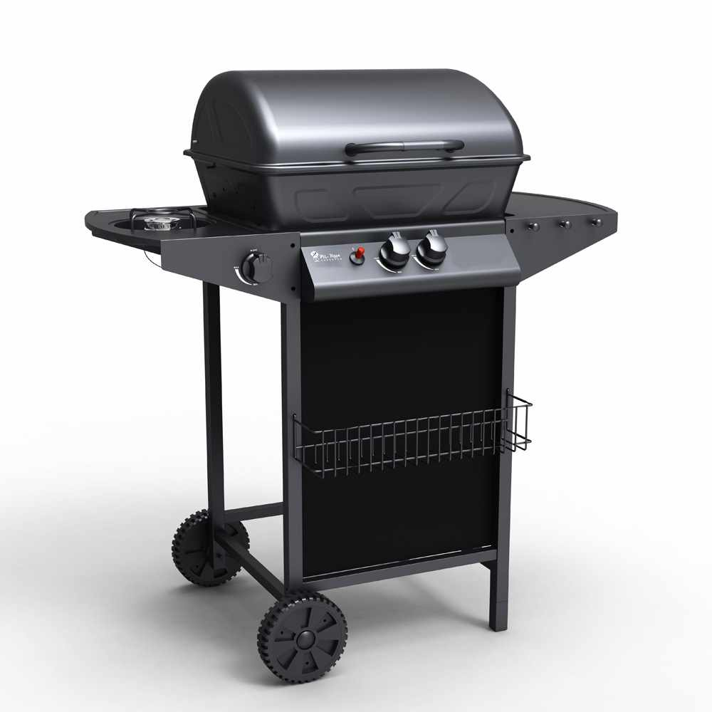 Gasbarbecue in RVS met 2+1 branders grill Holstein