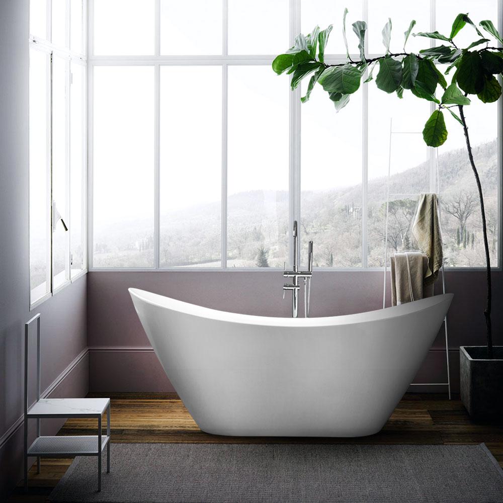 Vrijstaande Ovale Design Badkuip met Gratis Installatie Siro