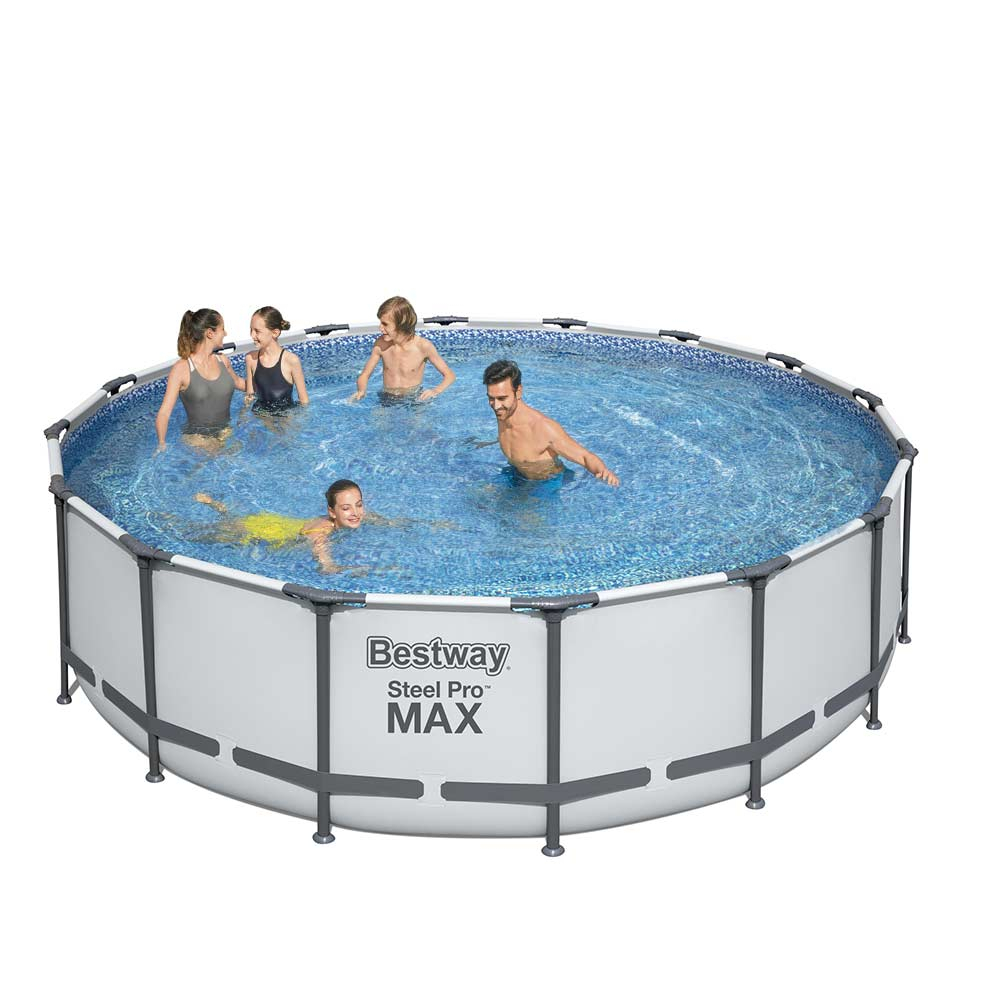Bovengronds zwembad Bestway 5612Z Steel Pro Max rond 488x122cm