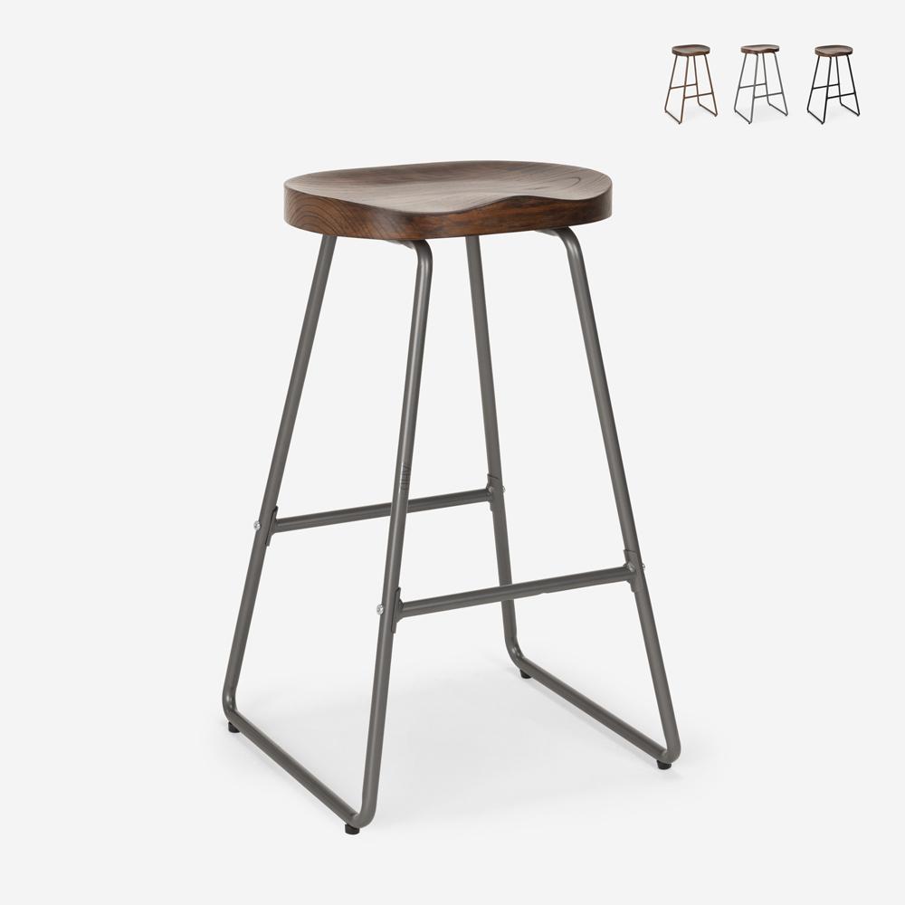 Industriële design metalen houten kruk voor bars keukens restaurants CARBON