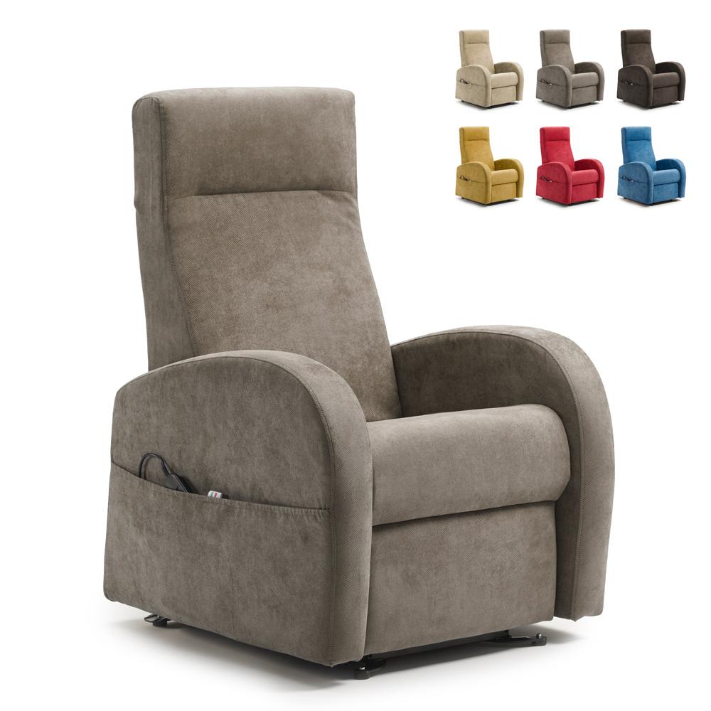 Relax fauteuil sta-op-stoel met verstelbare hoofdsteun 2 motoren en Roller system Matilde