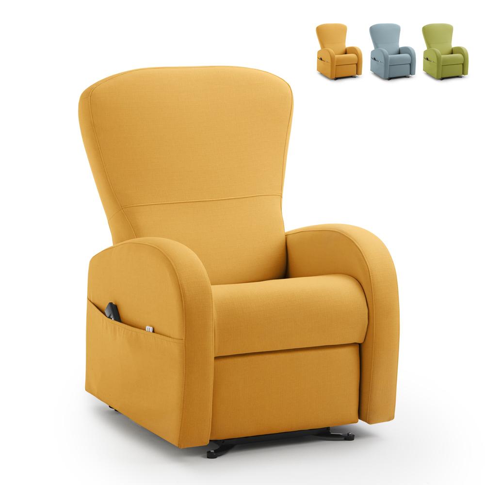 Relax stoffen fauteuil leuning met liftsysteem 2 motoren Roller System Greta