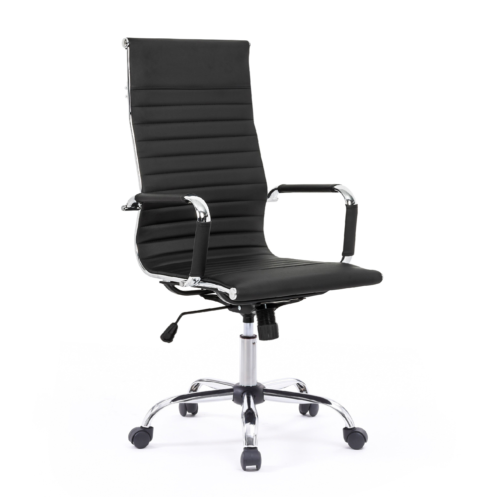 Elegante bureaustoel ergonomische metalen kunstleren fauteuil Linea