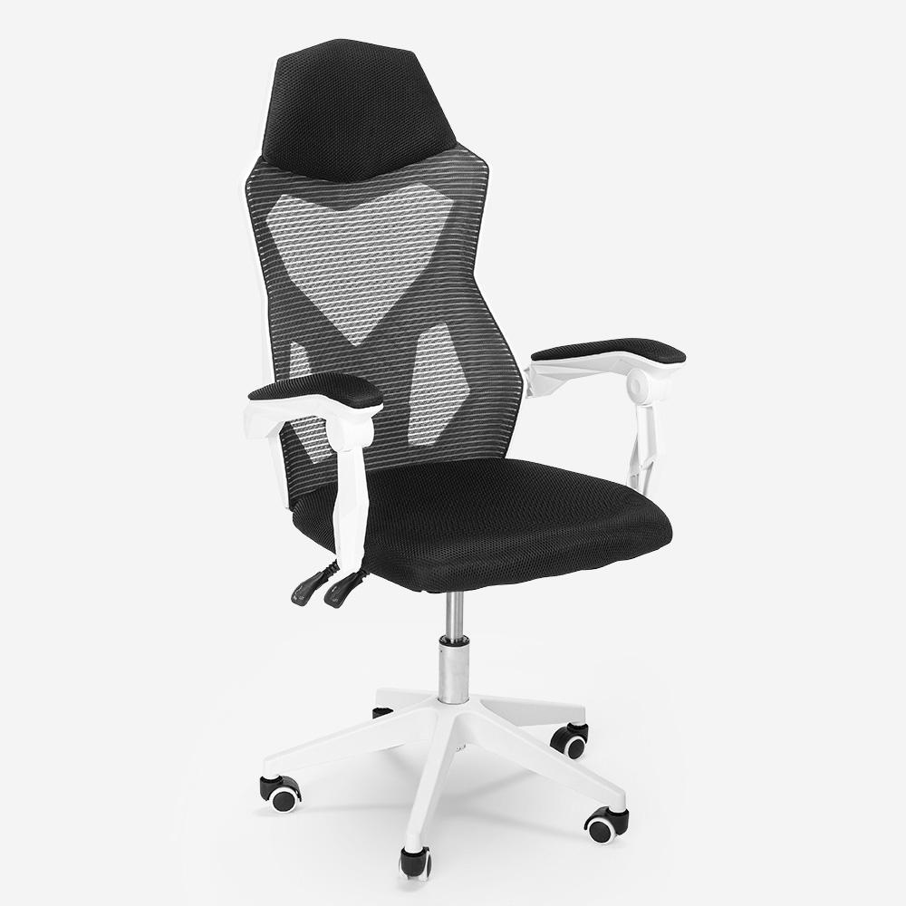 Ademende ergonomische gamestoel met futuristisch ontwerp Gordian
